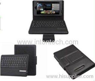 Bluetooth keyboard with leather case for Google Nexus 7
