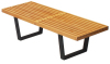 George Nelson bench, outdoor bench, leisure bench, living room bench, wooden bench, home furniture, bench