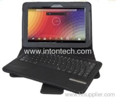 Bluetooth keyboard with leather case for Google Nexus 10