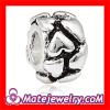 China Sterling silver 925 European Heart Beads Charms to make jewelry