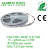 Silica Gel coating Silicon covered white PCB 150pcs SMD5050 LED strip light ribbon with graduation