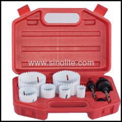 "8pcs Electrician's Kit Sizes:7/8"" 1-1/8"" 1-3/8"" 1-3/4"" 2"" 2-1/2""(22-29-35-44-51-64mm) 2 Mandrels"