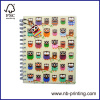 PP cover A5 Spiral notebook with logo label single subject round angle