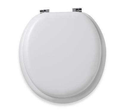 white varnish painted wood toilet seat
