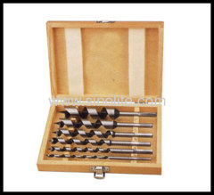 Auger Bit 6pcs Length 230mm; size: 10-12-14-16-18-20MM packed in wooden box