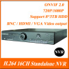 H.264 16Channel Standalone 2.0U Case Metal Shell nvr system for ip camera