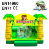 Yellow Theme Hawaii Inflatable Bouncer Castle