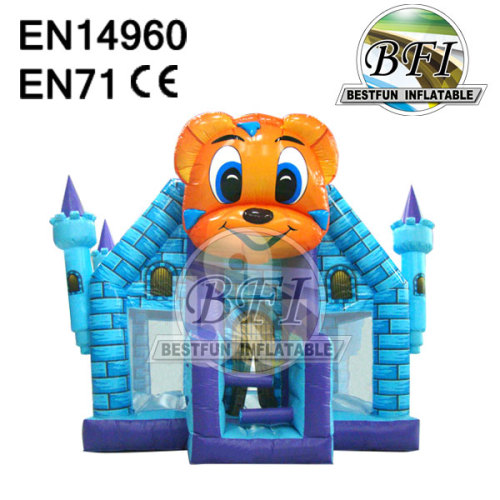 Blue Cute Animal Cartoon Inflatable Castles