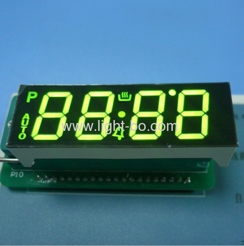 "Custom Super Bright Green 4-Digit 0.56"" 7 Segment LED Display for Digital Oven Timer"