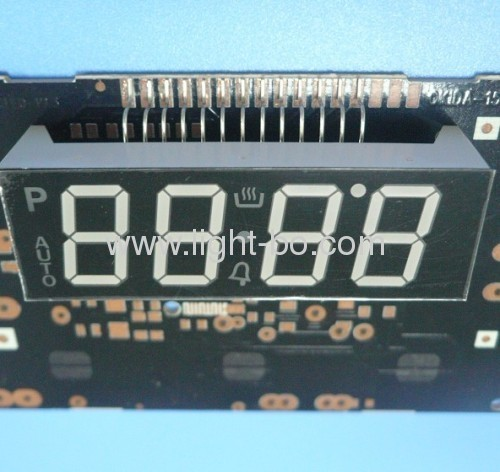 Custom Super Bright Green 4-Digit 0.567 Segment LED Display for Digital Oven Timer