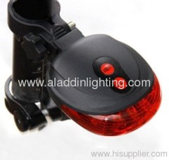 Bicycle 2 Laser Beam and 5 LED Rear Tail Light