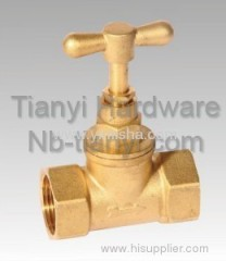 Fashion Design Brass Two General Formula Yellow Handle Stop valve