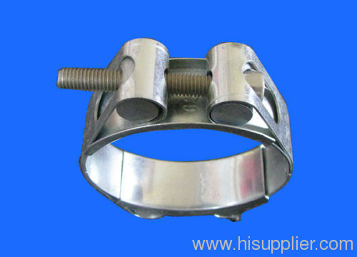 Heavy duty clamp with double bolts