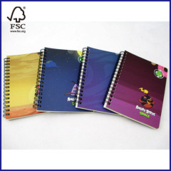 Angry Birds subject spiral notebook