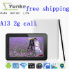 dual camera android 4.0 factory price Cheap Phone call tablet pc 7inch 800*480 Single core