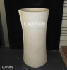 Cream marfil pedestal basin marble bathroom sink