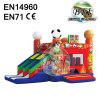 Commercial Full Printing Inflatable Football Castle
