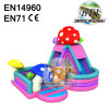 Mushroom Toddler Inflatable Land Inflatable Bouncer Slide Combo