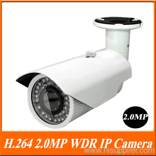 H.264 WDR 2.0MP 1/4'' Progressive Scan CMOS 20-25m IR view ip video surveillance