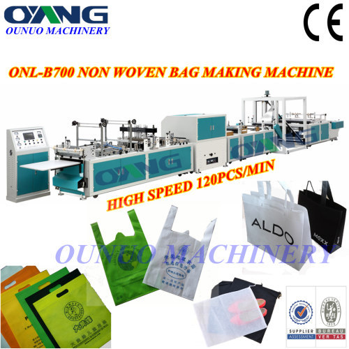 ONL-B700 Full automatic non woven box bag making machine