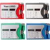 8 digit solar calculator with name card holder