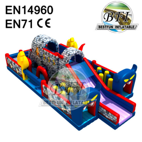 Castle Slide Customized Inflatable Obstacle Course