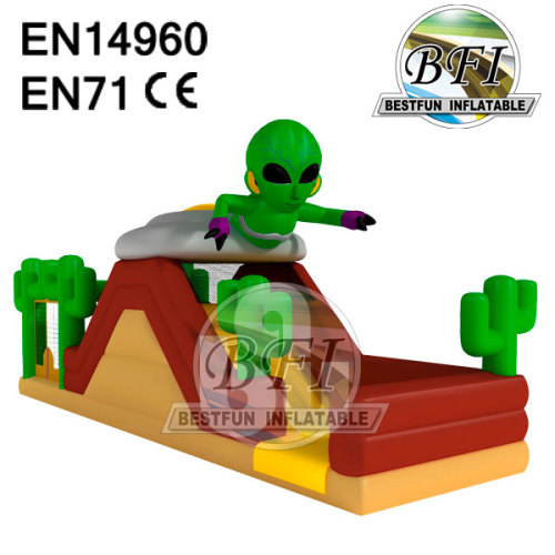 Blue Alien Simple Kid Inflatable Obstacle
