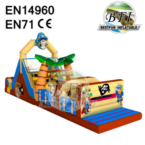 One Piece Inflatable Pirate Obstacle Course