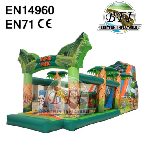Safari Park Inflatable Jungle Obstacle Courses
