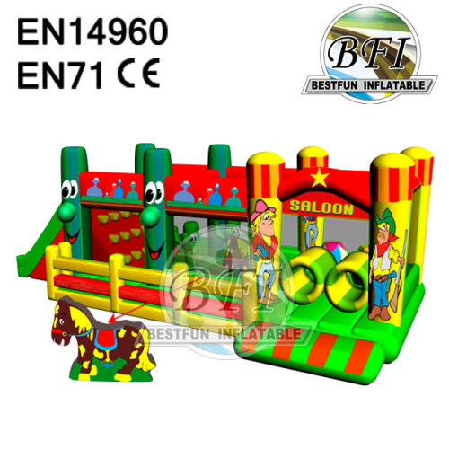 Saloon Children Competitive Inflatable Obstacle Course