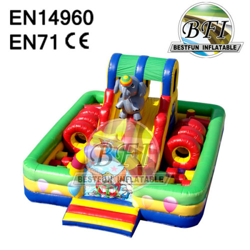 Happy Circus Inflatable Obstacle Course Bounce House