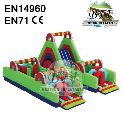 Slide Obstacle Combo Inflatable Adult Obstacle Course Game