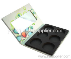 6 colours paper material eyeshadow palette W/mirror