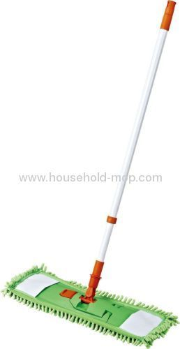 Floor microfiber mop with telescopic pole