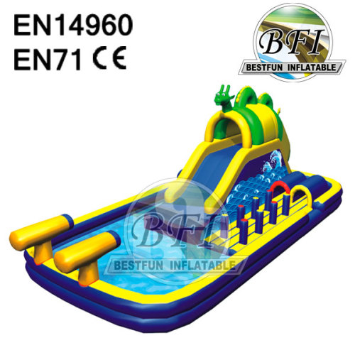 Inflatable Commercial Water Games With Big Pool