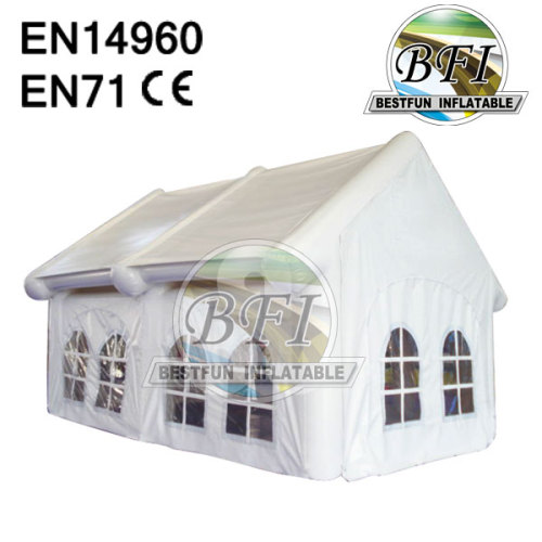 White Inflatable Building Tent With Removable Windows