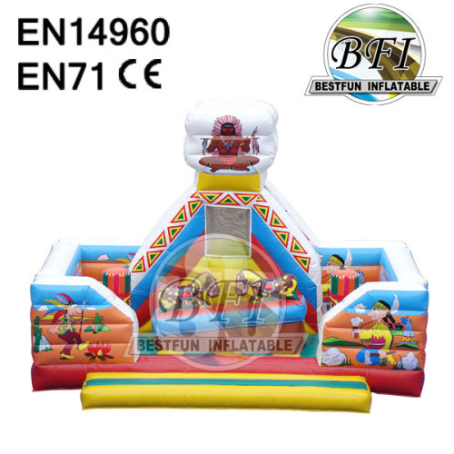 Inflatable Motion Seesaw Jumping Bouncer For Kids