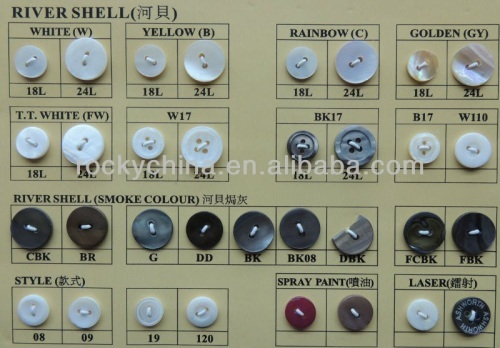 THE River Shell Button
