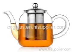 Hand Made Heat Resistant Borosilicate Glass Teapot