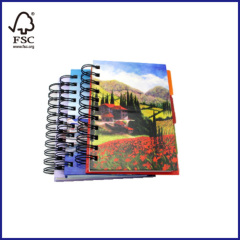 4 subjects hardcover spiral notebook
