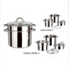 4PCS glossy finish stainless steel pasta pot