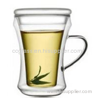 Hand Blown Insulated Double Wall Glass Tea Cup