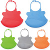 Durable and cartoon designed silicone infant bibs