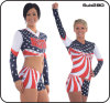Polyester / Spandex Cheerleading Sportswear Paillette Embroidery