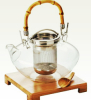 Wholesales Insulated Hand Blown Glass Teapots Coffee Pots