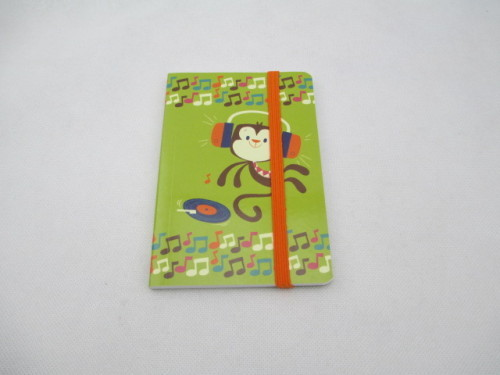 notebook with elastic band