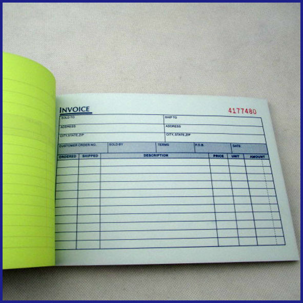 fashion carbonless invoice book