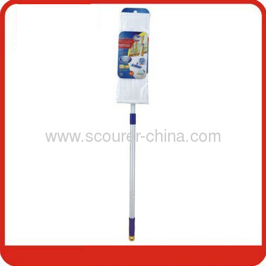 Telescopic aluminum handle Microfiber Flat Floor Mop for cleaning