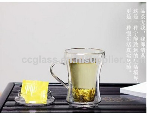Hand Blown Insulated Double Wall Glass Tea Cups