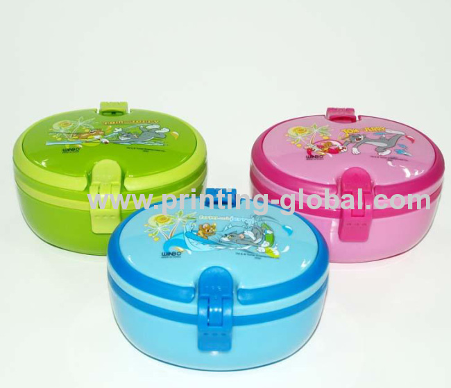 Tiffin Box With Cartoon Design Thermal Transfer Printing Foil